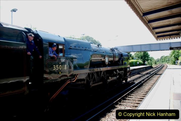 2019-07-02 - 35018 British India Line at Parkstone. (4) 004