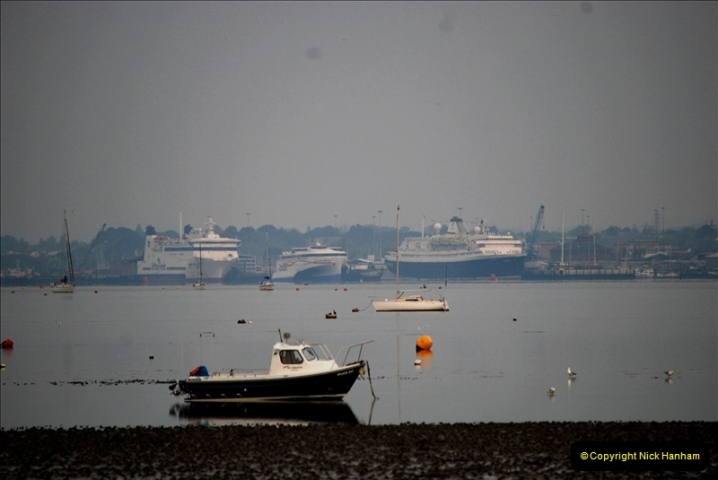 2019-04-22 Poole Harbour - MV Astoria, Brittany Ferries Barfleur & Condor Ferries Liberation. (1) 031