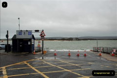 2018-12-08 The Sandbanks to Studland chain ferry away at Falmouth for its by annual refit. An empty space in the harbour.  (2) 002