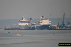 2019-04-22 Poole Harbour - MV Astoria, Brittany Ferries Barfleur & Condor Ferries Liberation. (3) 033