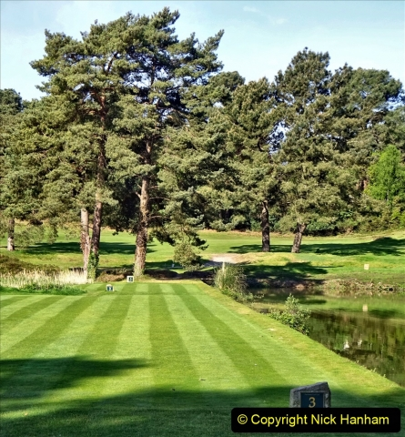 2020-05-04 Covid 19 walk Parkstone Golf Club Poole, Dorset.  (67) 067