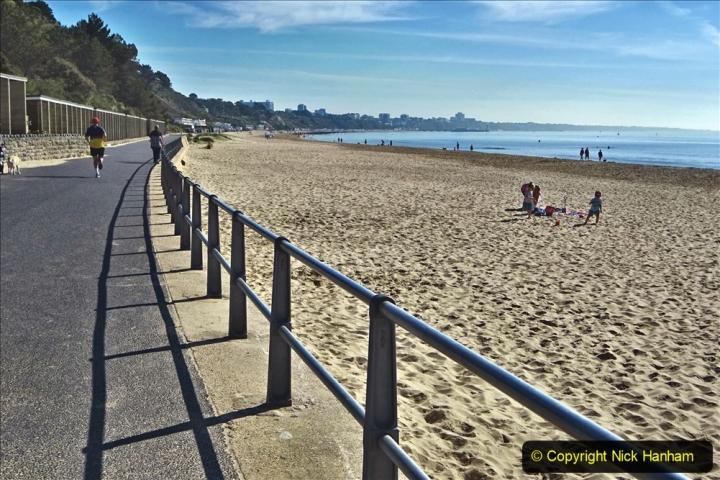 2020-05-20 Covid 19 Walk to the beach at Branksome Chine, Poole, Dorset. (12) 012