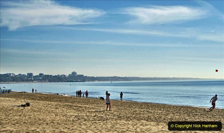 2020-05-20 Covid 19 Walk to the beach at Branksome Chine, Poole, Dorset. (22) 022