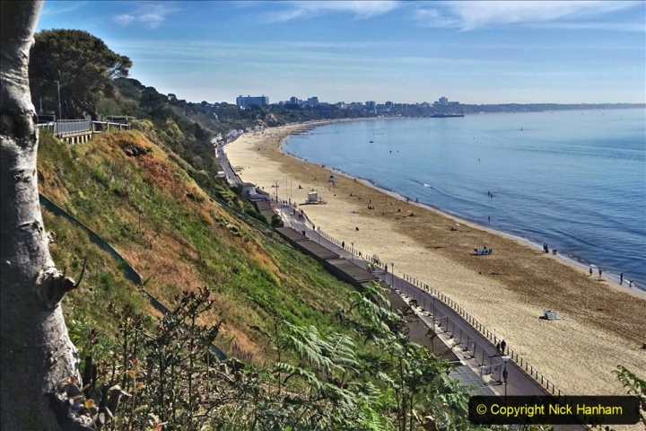 2020-05-20 Covid 19 Walk to the beach at Branksome Chine, Poole, Dorset. (42) 042
