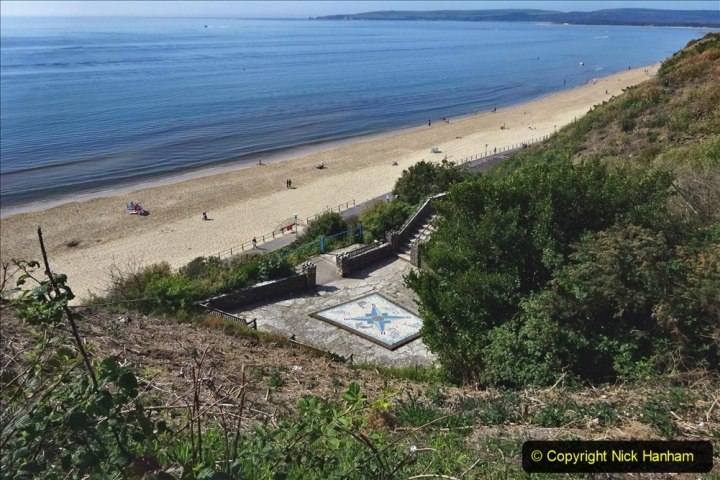 2020-05-20 Covid 19 Walk to the beach at Branksome Chine, Poole, Dorset. (53) 053