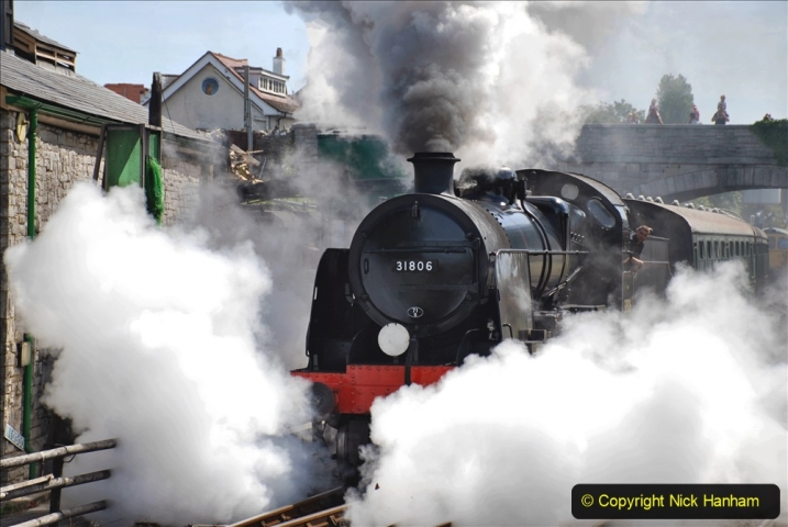 2020-07-18 First Steam Trains in Purbeck since Lockdown with U 31806. (100) 100