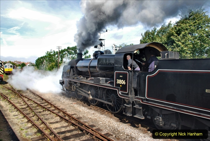 2020-07-18 First Steam Trains in Purbeck since Lockdown with U 31806. (102) 102