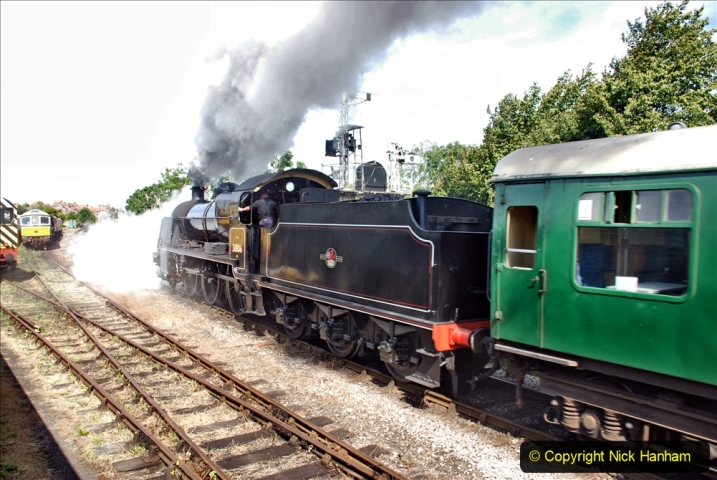 2020-07-18 First Steam Trains in Purbeck since Lockdown with U 31806. (103) 103