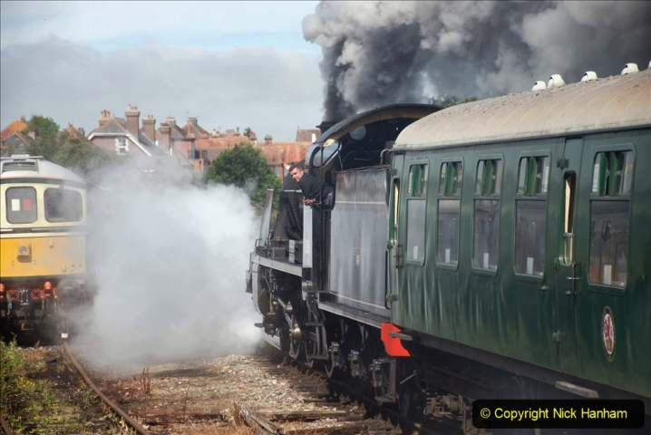 2020-07-18 First Steam Trains in Purbeck since Lockdown with U 31806. (105) 105