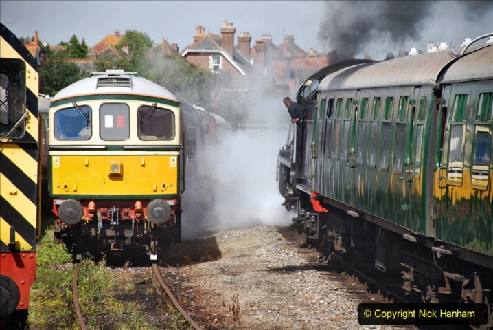 2020-07-18 First Steam Trains in Purbeck since Lockdown with U 31806. (106) 106