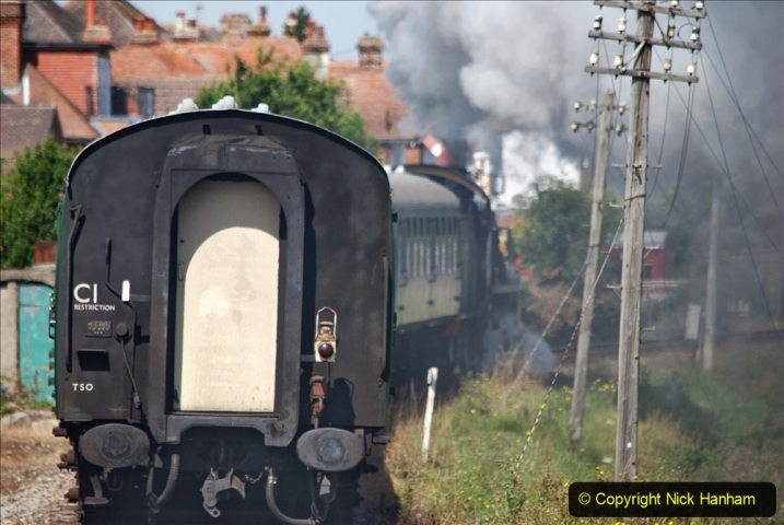 2020-07-18 First Steam Trains in Purbeck since Lockdown with U 31806. (107) 107