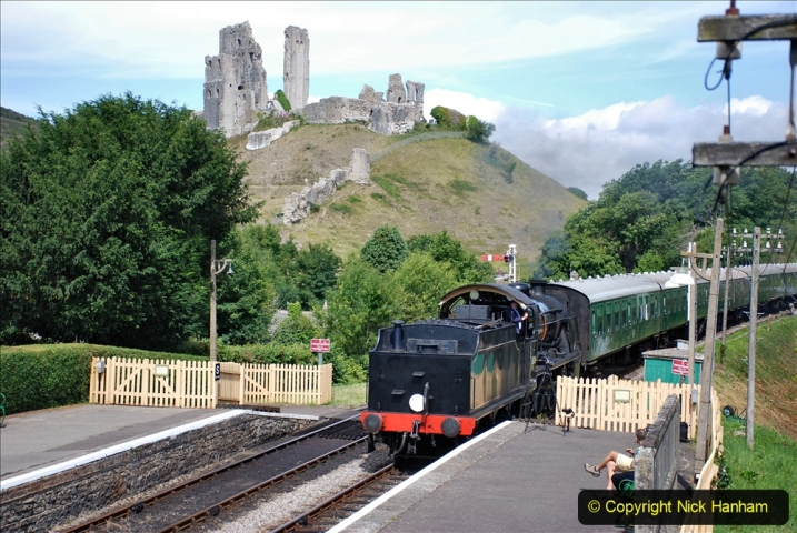 2020-07-18 First Steam Trains in Purbeck since Lockdown with U 31806. (113) 113
