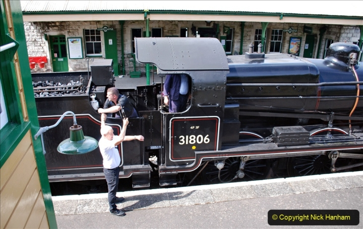2020-07-18 First Steam Trains in Purbeck since Lockdown with U 31806. (117) 117