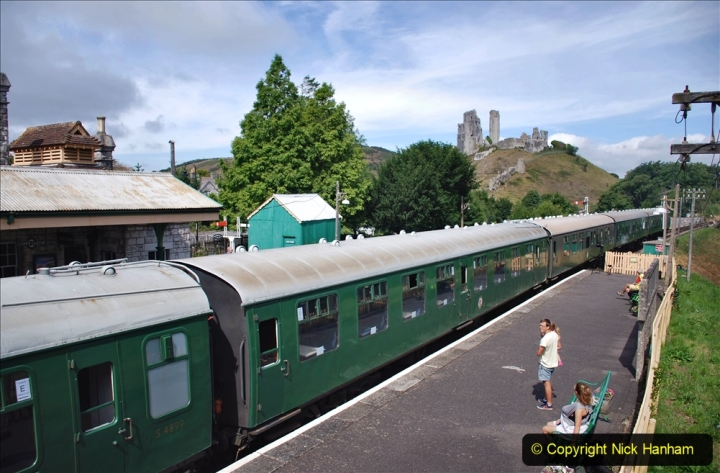2020-07-18 First Steam Trains in Purbeck since Lockdown with U 31806. (118) 118