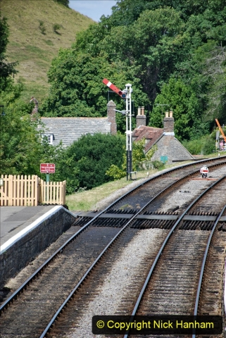 2020-07-18 First Steam Trains in Purbeck since Lockdown with U 31806. (120) 120