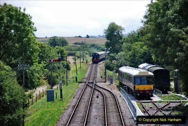 2020-07-18 First Steam Trains in Purbeck since Lockdown with U 31806. (121) 121