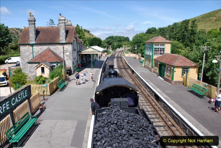 2020-07-18 First Steam Trains in Purbeck since Lockdown with U 31806. (123) 123
