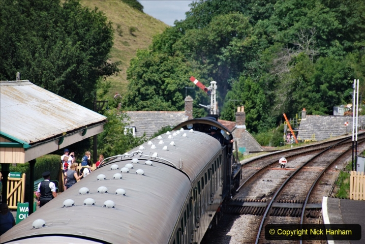 2020-07-18 First Steam Trains in Purbeck since Lockdown with U 31806. (124) 124