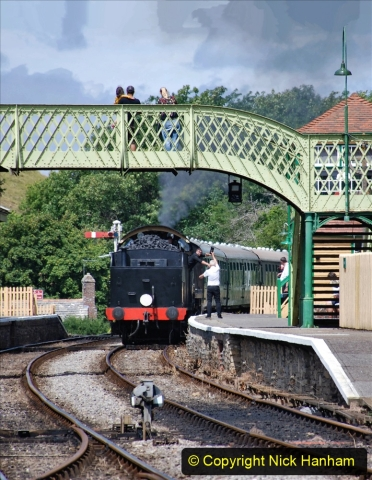2020-07-18 First Steam Trains in Purbeck since Lockdown with U 31806. (132) 132