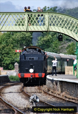 2020-07-18 First Steam Trains in Purbeck since Lockdown with U 31806. (135) 135