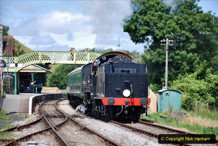 2020-07-18 First Steam Trains in Purbeck since Lockdown with U 31806. (137) 137