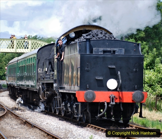 2020-07-18 First Steam Trains in Purbeck since Lockdown with U 31806. (138) 138