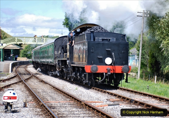 2020-07-18 First Steam Trains in Purbeck since Lockdown with U 31806. (139) 139