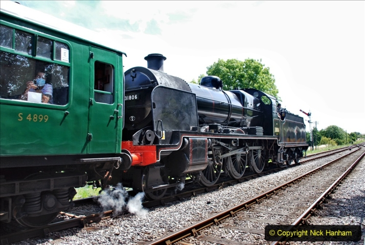 2020-07-18 First Steam Trains in Purbeck since Lockdown with U 31806. (141) 141