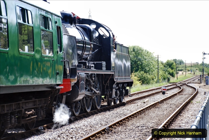 2020-07-18 First Steam Trains in Purbeck since Lockdown with U 31806. (143) 143