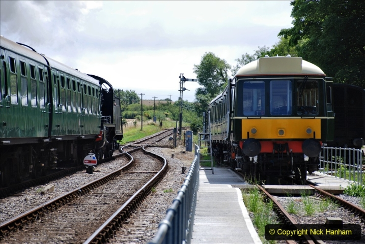 2020-07-18 First Steam Trains in Purbeck since Lockdown with U 31806. (144) 144