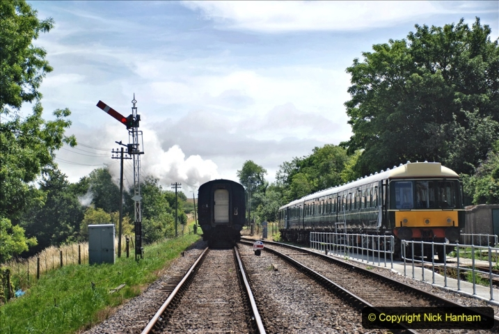 2020-07-18 First Steam Trains in Purbeck since Lockdown with U 31806. (145) 145