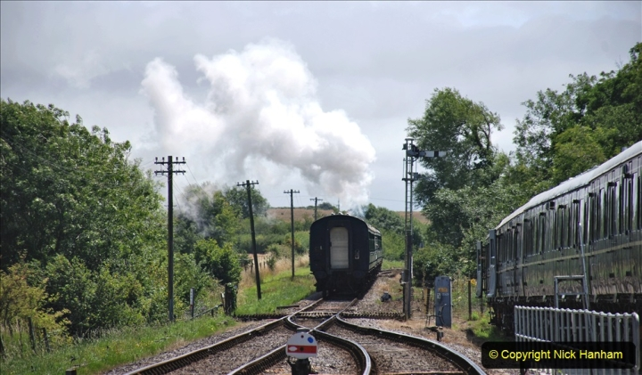 2020-07-18 First Steam Trains in Purbeck since Lockdown with U 31806. (146) 146