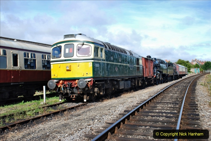 2020-07-18 First Steam Trains in Purbeck since Lockdown with U 31806. (3) 003
