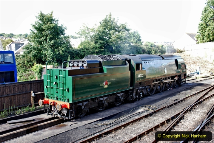 2020-07-18 First Steam Trains in Purbeck since Lockdown with U 31806. (31) 031