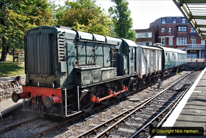 2020-07-18 First Steam Trains in Purbeck since Lockdown with U 31806. (37) 037