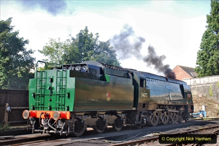 2020-07-18 First Steam Trains in Purbeck since Lockdown with U 31806. (45) 045