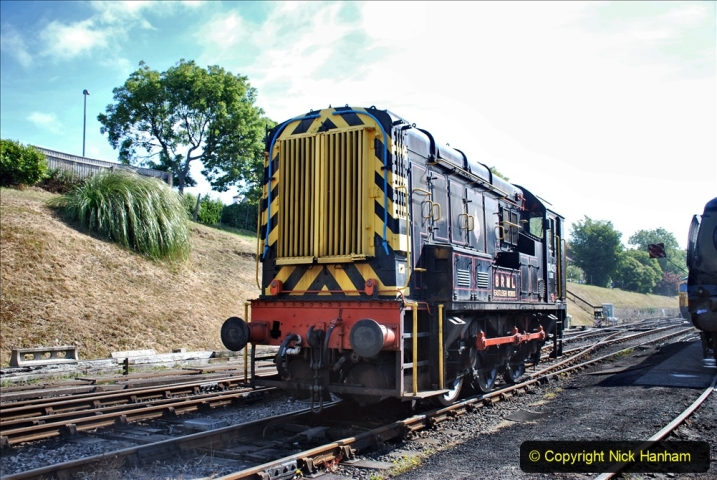 2020-07-18 First Steam Trains in Purbeck since Lockdown with U 31806. (52) 052