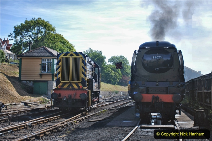 2020-07-18 First Steam Trains in Purbeck since Lockdown with U 31806. (53) 053