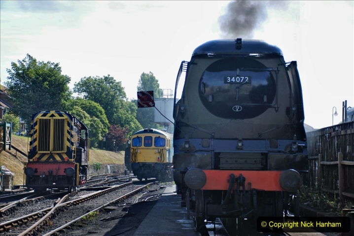 2020-07-18 First Steam Trains in Purbeck since Lockdown with U 31806. (54) 054