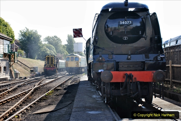 2020-07-18 First Steam Trains in Purbeck since Lockdown with U 31806. (55) 055