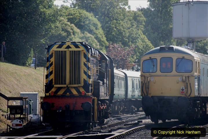 2020-07-18 First Steam Trains in Purbeck since Lockdown with U 31806. (56) 056