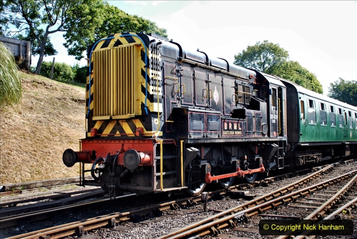 2020-07-18 First Steam Trains in Purbeck since Lockdown with U 31806. (58) 058