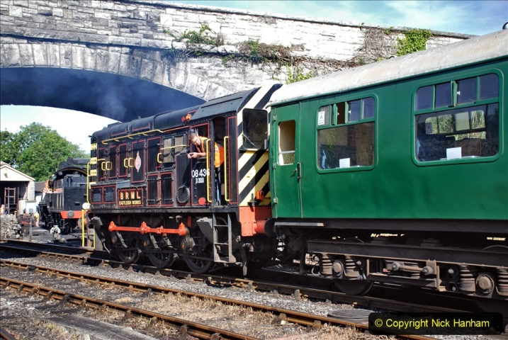 2020-07-18 First Steam Trains in Purbeck since Lockdown with U 31806. (61) 061
