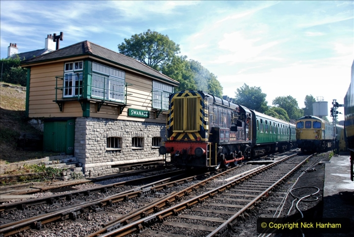 2020-07-18 First Steam Trains in Purbeck since Lockdown with U 31806. (62) 062