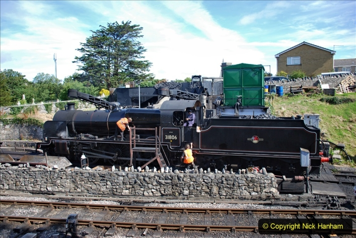 2020-07-18 First Steam Trains in Purbeck since Lockdown with U 31806. (64) 064