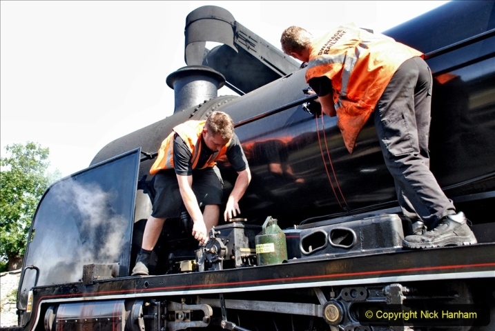 2020-07-18 First Steam Trains in Purbeck since Lockdown with U 31806. (66) 066