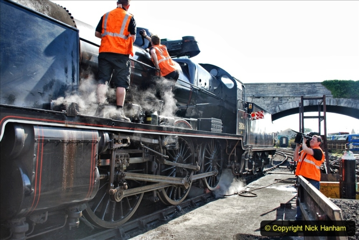 2020-07-18 First Steam Trains in Purbeck since Lockdown with U 31806. (69) 069