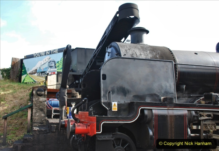 2020-07-18 First Steam Trains in Purbeck since Lockdown with U 31806. (7) 007