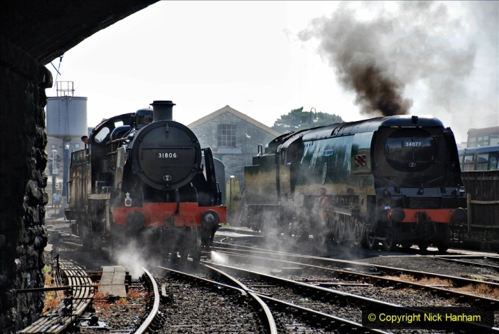 2020-07-18 First Steam Trains in Purbeck since Lockdown with U 31806. (74) 074