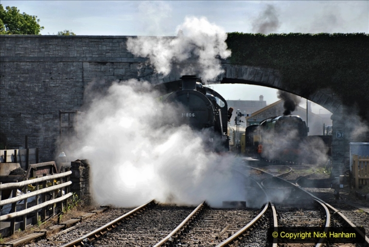2020-07-18 First Steam Trains in Purbeck since Lockdown with U 31806. (76) 076